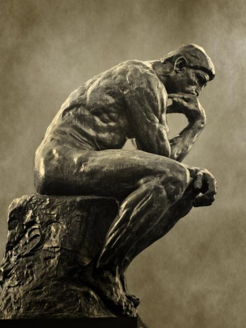 """""""El pensador"""", Auguste Rodin. 1902."""